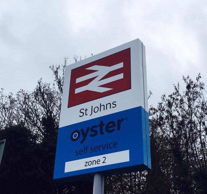 New Sign for St John's Station