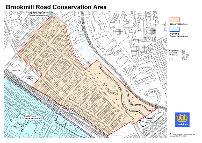 Brookmill Road Conservation Area Map