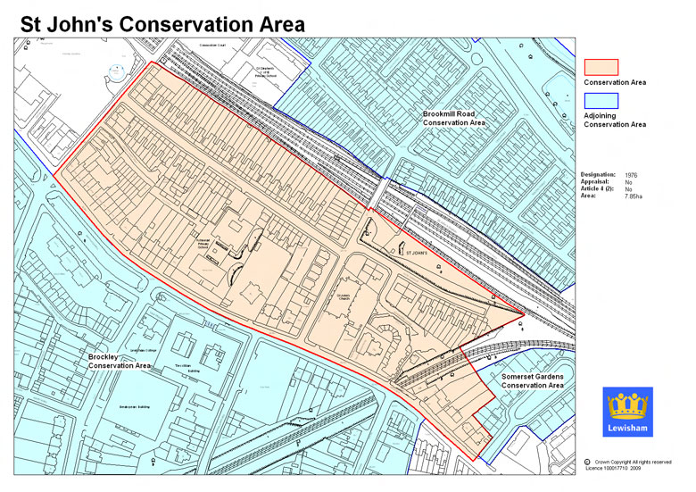St Johns Conservation Area Map