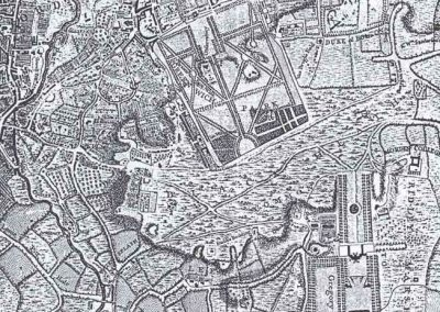 John Roque Map 1746 from Lewisham Planning Brookmill Road Conservation Area Character Appraisal 1998