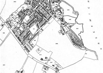 Deptford Tithe Map 1843 from Lewisham Planning Brookmill Road Conservation Area Character Appraisal 1998