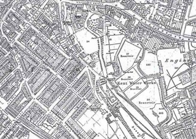 OS Map 1868 from Lewisham Planning Brookmill Road Conservation Area Character Appraisal 1998