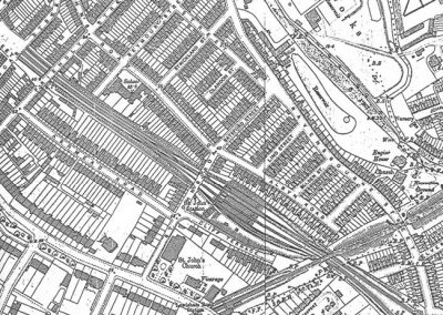 OS Map 1894 from Lewisham Planning Brookmill Road Conservation Area Character Appraisal 1998
